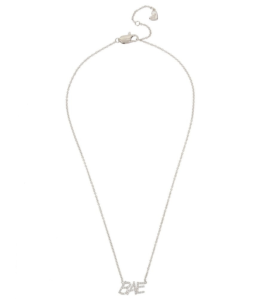 Blue by Betsey Johnson Cubic Zirconia Bae Pendant Necklace