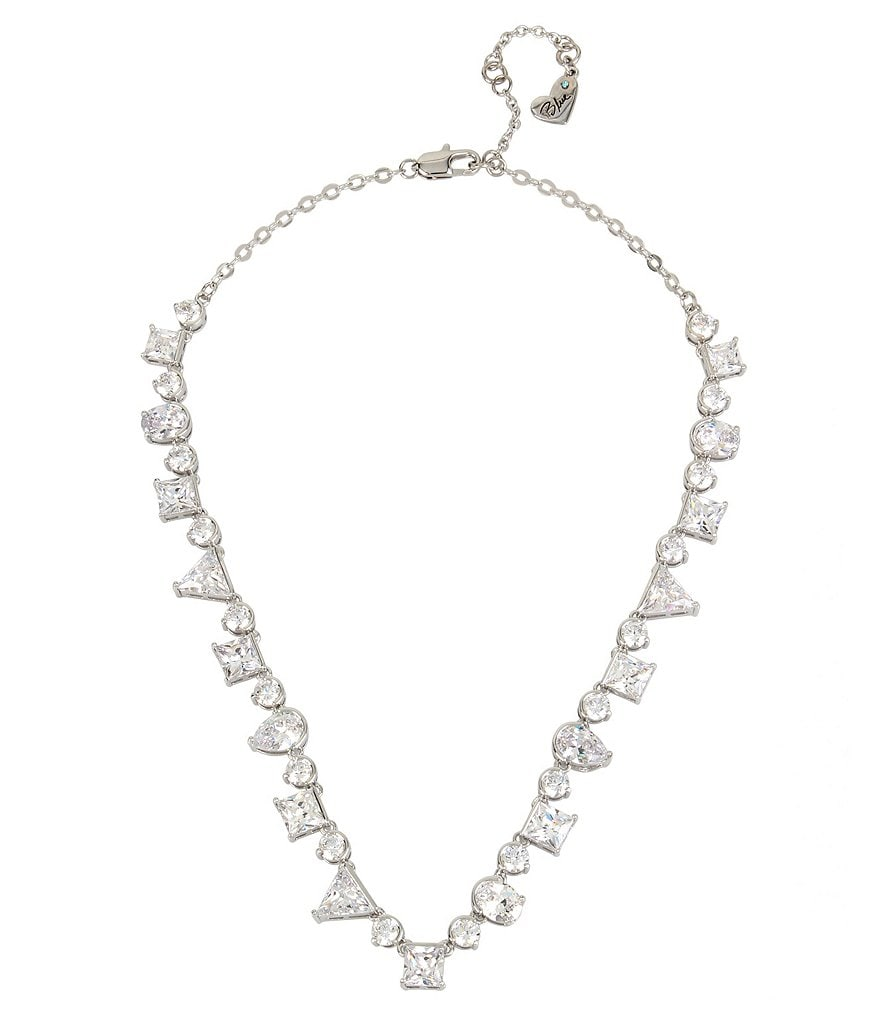 Blue by Betsey Johnson Cubic Zirconia Collar Necklace