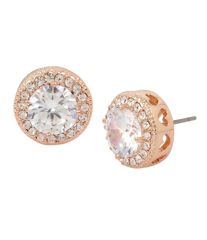 Blue by Betsey Johnson Halo Stud Earrings