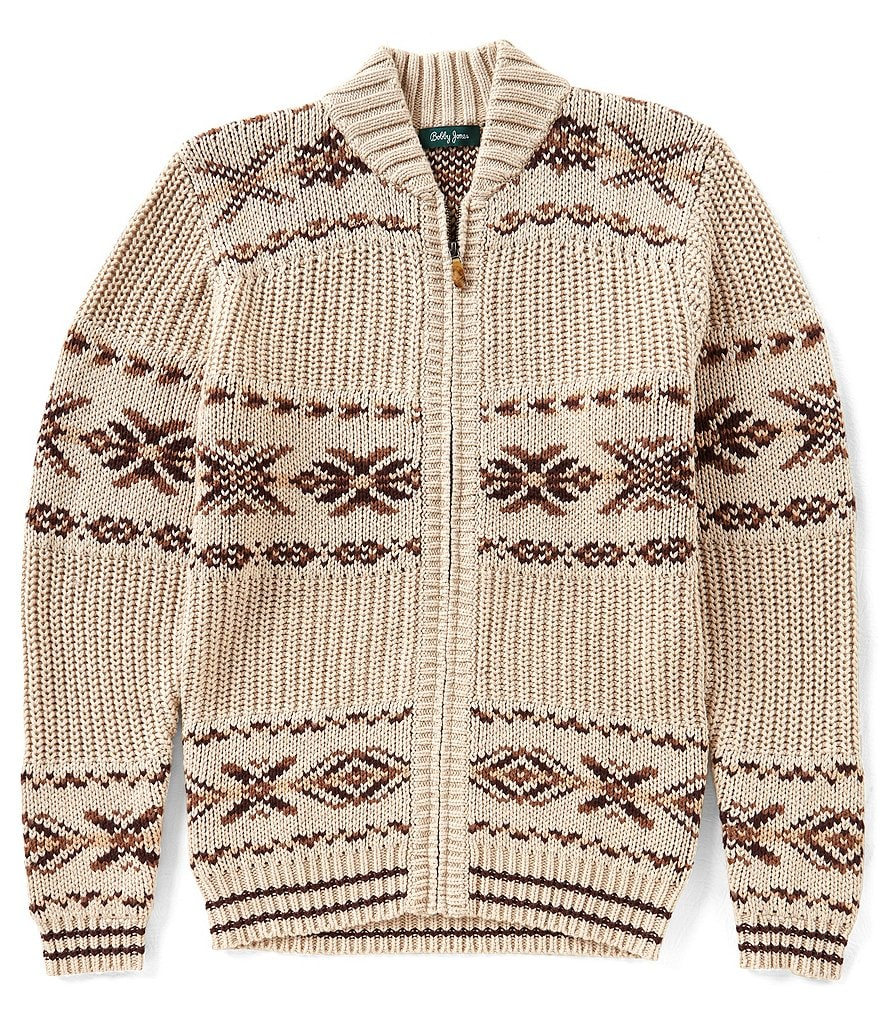 Bobby Jones Fair Isle Full Zip Sweater