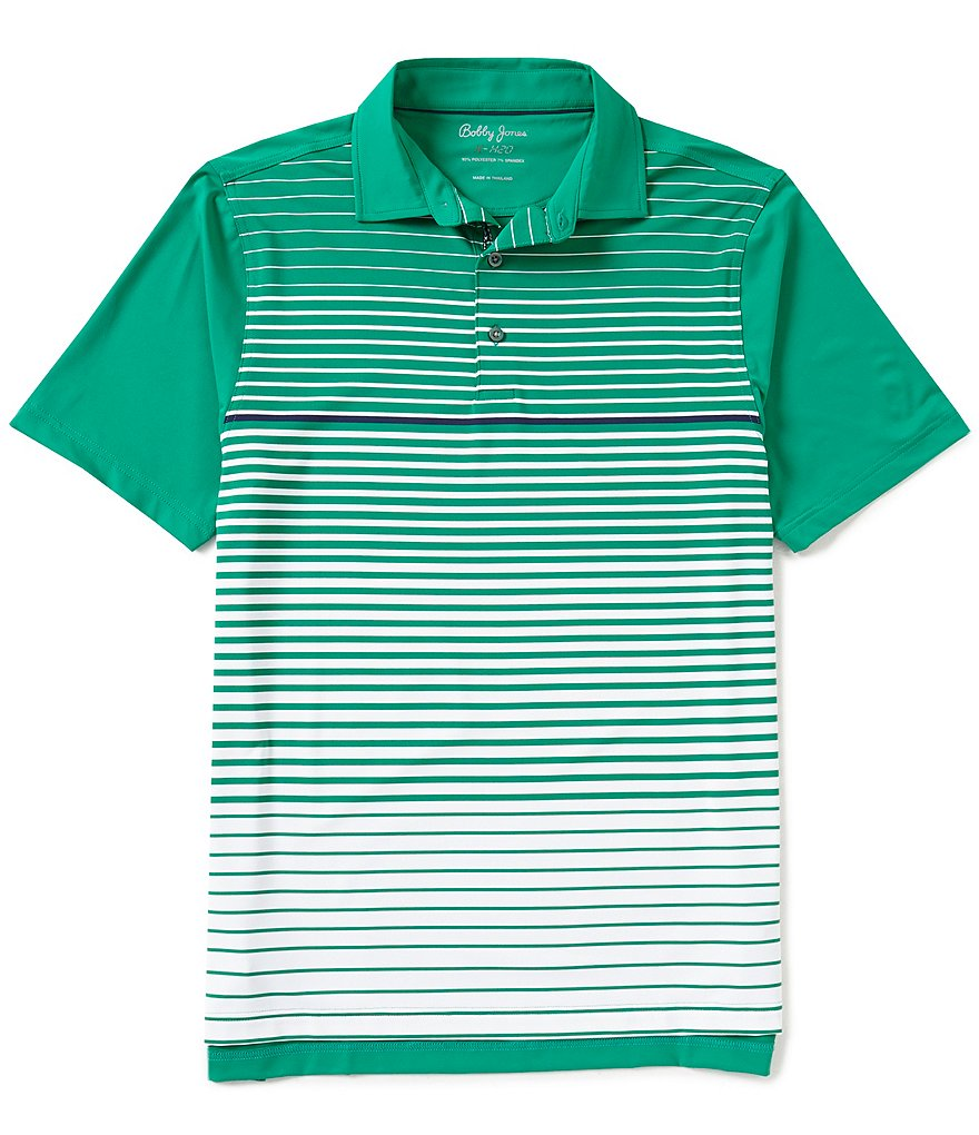 Bobby Jones Golf XH20 Tartine Striped Short-Sleeve Polo Shirt