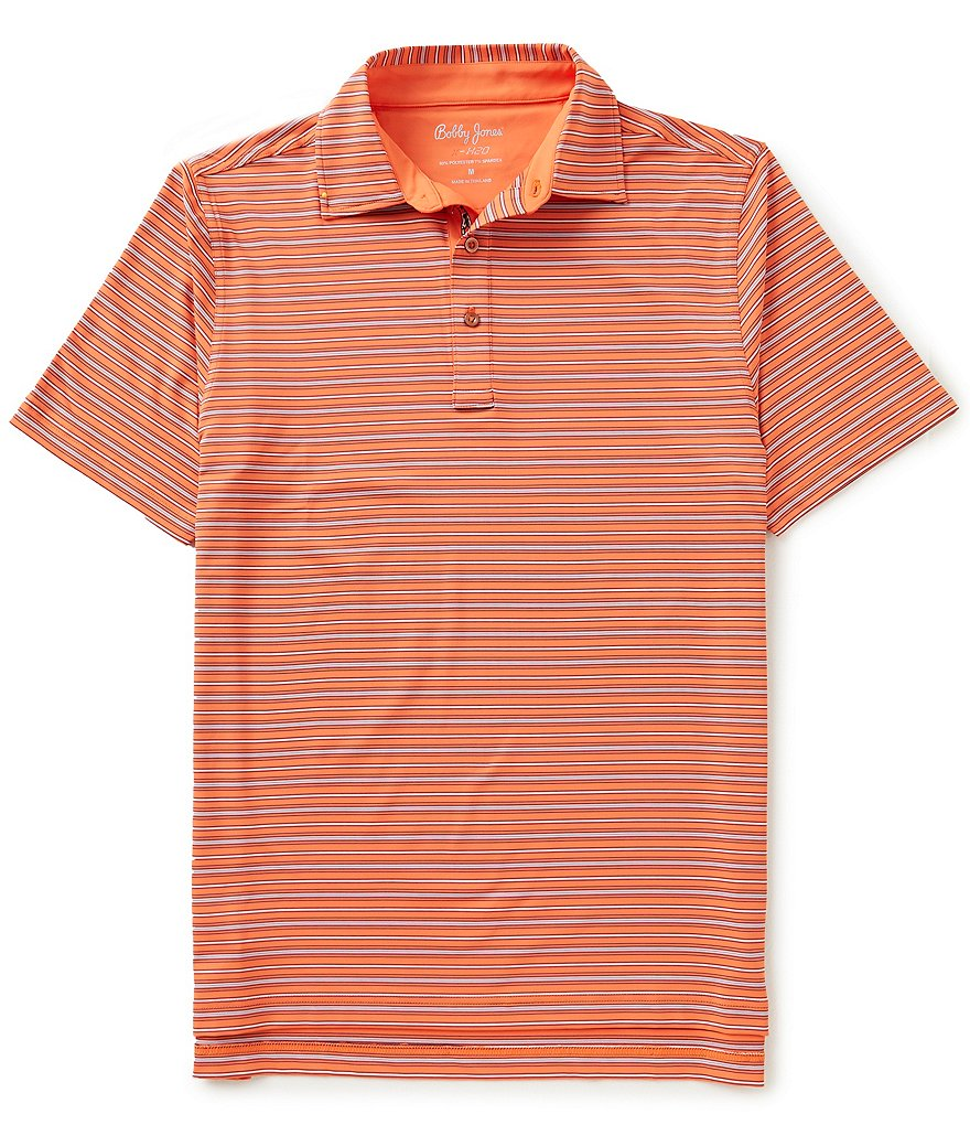 Bobby Jones Golf XH20 Cero Fine Line Stripe Short-Sleeve Polo Shirt