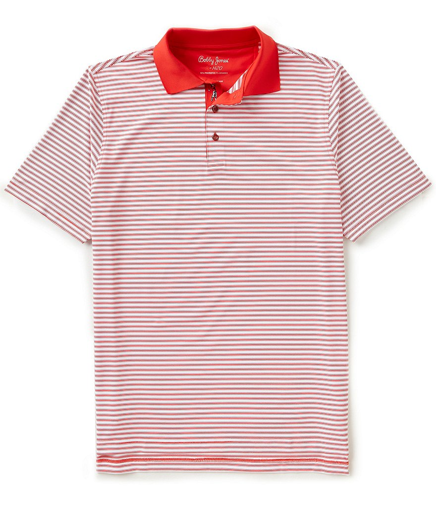 Bobby Jones Golf XH20 Frame Stripe Short-Sleeve Polo Shirt