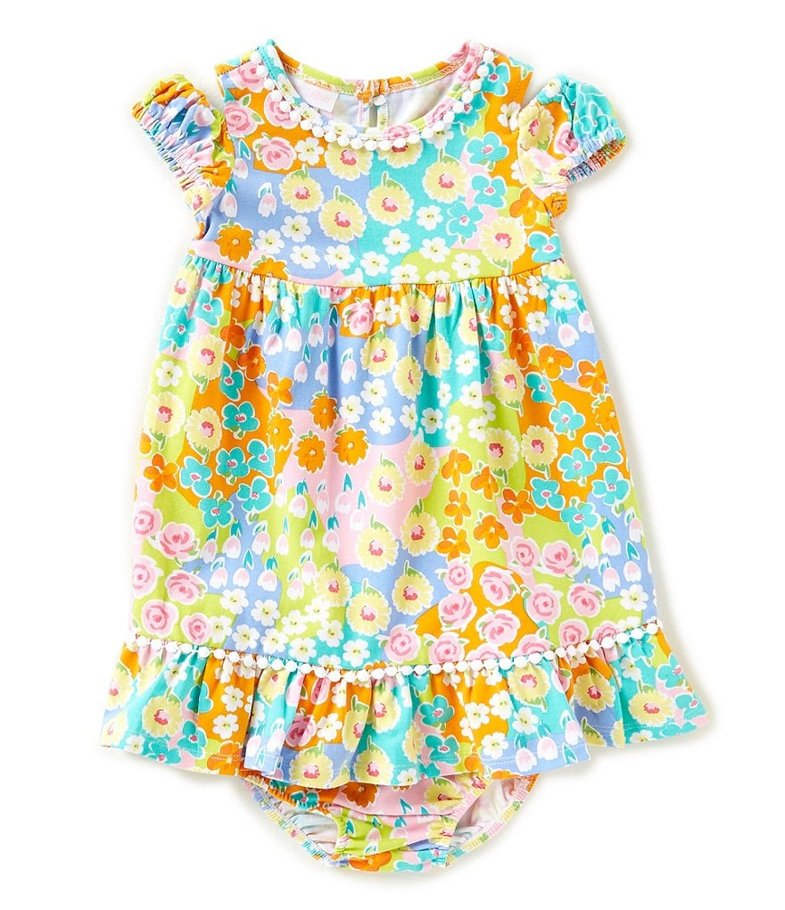 Bonnie Baby Baby Girls 12-24 Months Cold-Shoulder Floral Dress