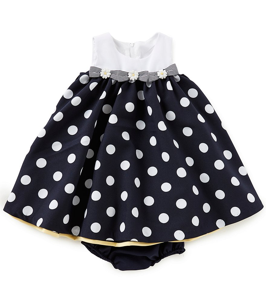 Bonnie Baby Baby Girls 12-24 Months Nautical Dotted Dress