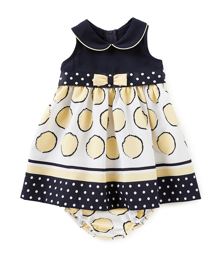 Bonnie Baby Baby Girls 12-24 Months Sleeveless Dotted Dress