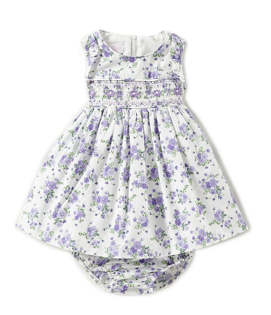 Bonnie Baby Baby Girls Newborn-24 Months Floral-Printed A-Line Dress