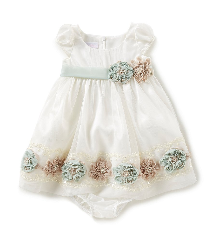 Bonnie Baby Newborn-24 Months Bonaz-Border-Hem A-Line Dress