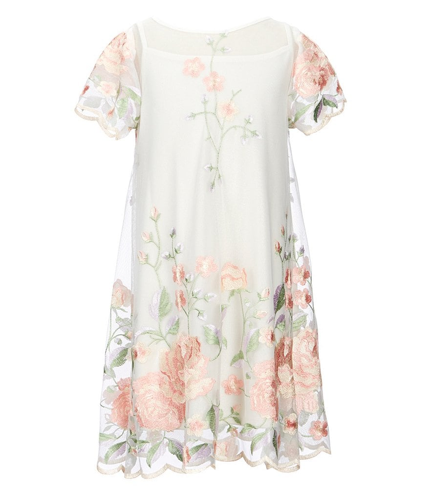 Bonnie Jean Big Girls 7-16 Floral-Embroidered Dress