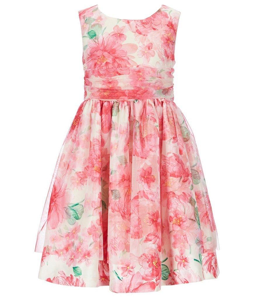 Bonnie Jean Big Girls 7-16 Floral-Printed Fit-And-Flare Dress