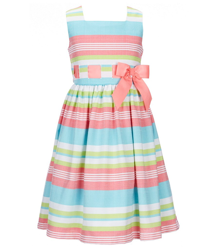 Bonnie Jean Big Girls 7-16 Striped A-Line Dress