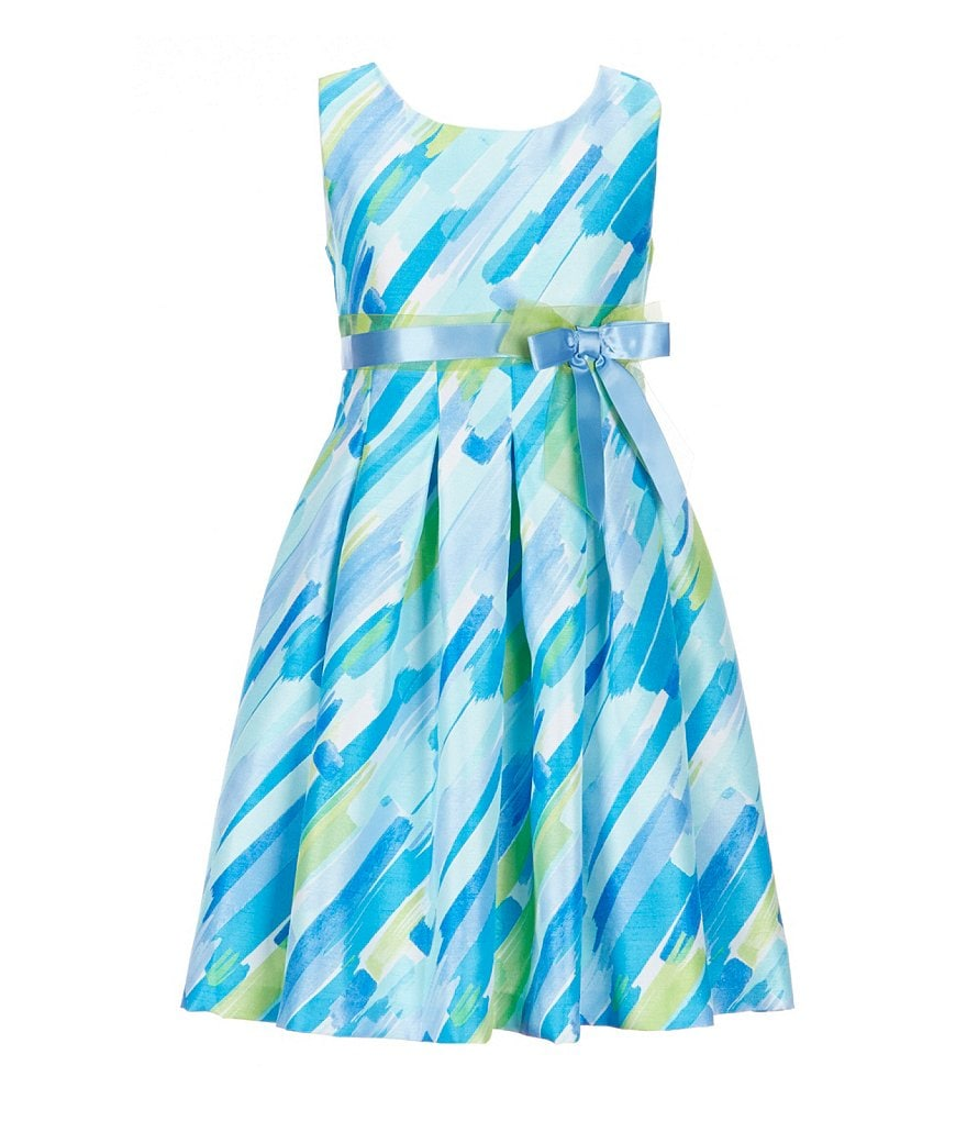 Bonnie Jean Big Girls 7-16 Watercolor-Abstract-Print Fit-And-Flare Dress