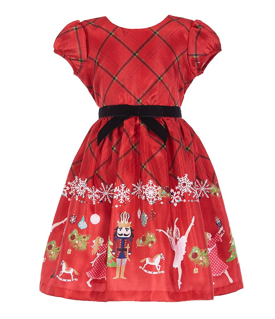 Bonnie Jean Little Girls 2T-6X Holiday Nutcracker Fit-And-Flare Dress