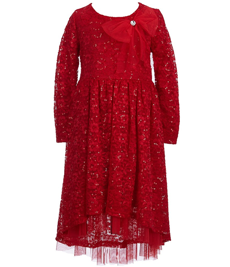 Bonnie Jean Little Girls 4-6X Embellished High-Low Dress