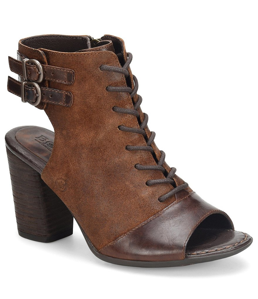Born Blane Leather and Suede Booties