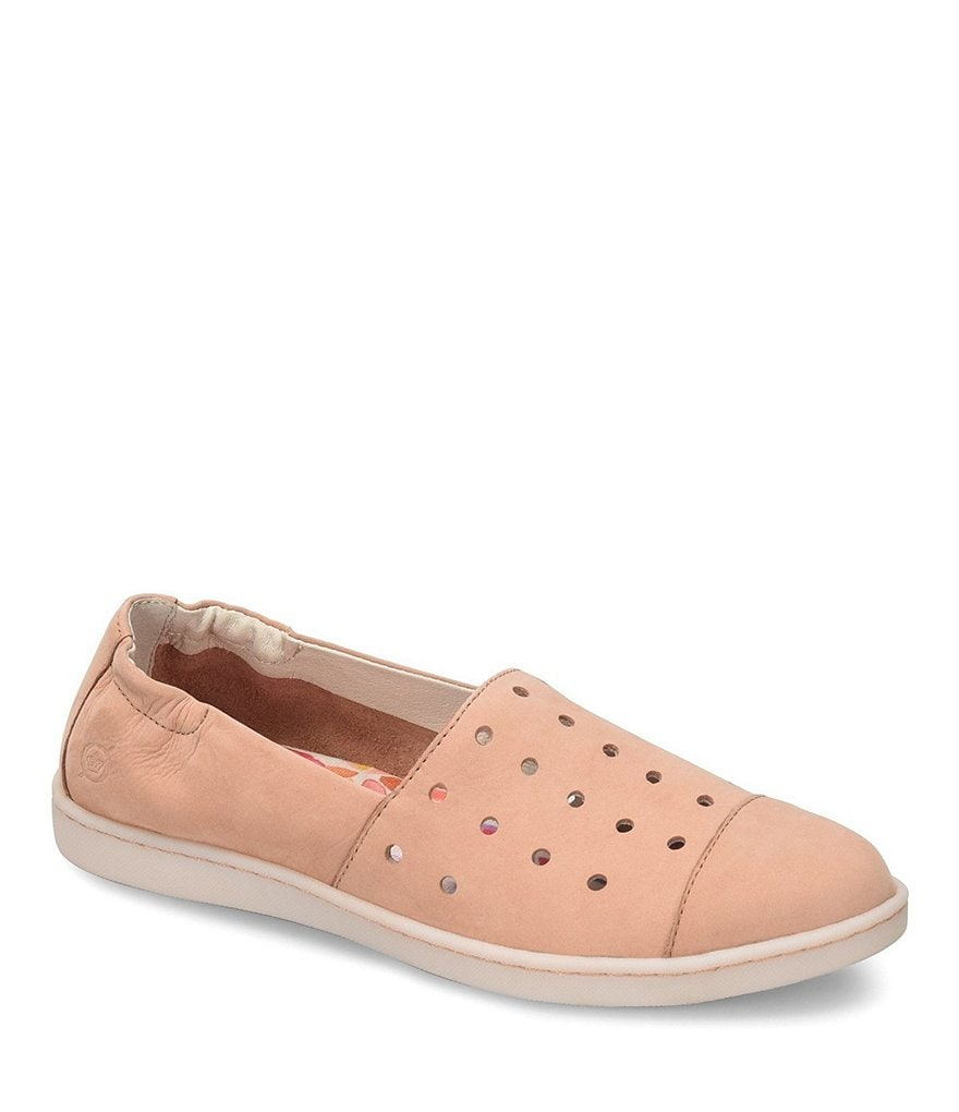 Born Kristin Nubuck Perforated Slip-Ons