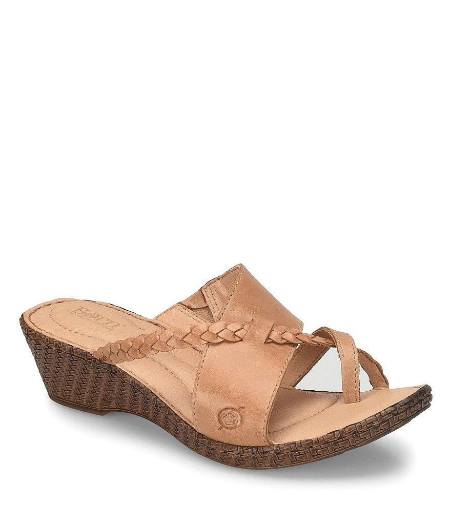 Born Thistle Wedge Slide Thong Sandals