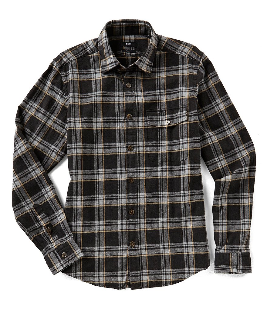 BOSS Lalo Check Long-Sleeve Woven Shirt