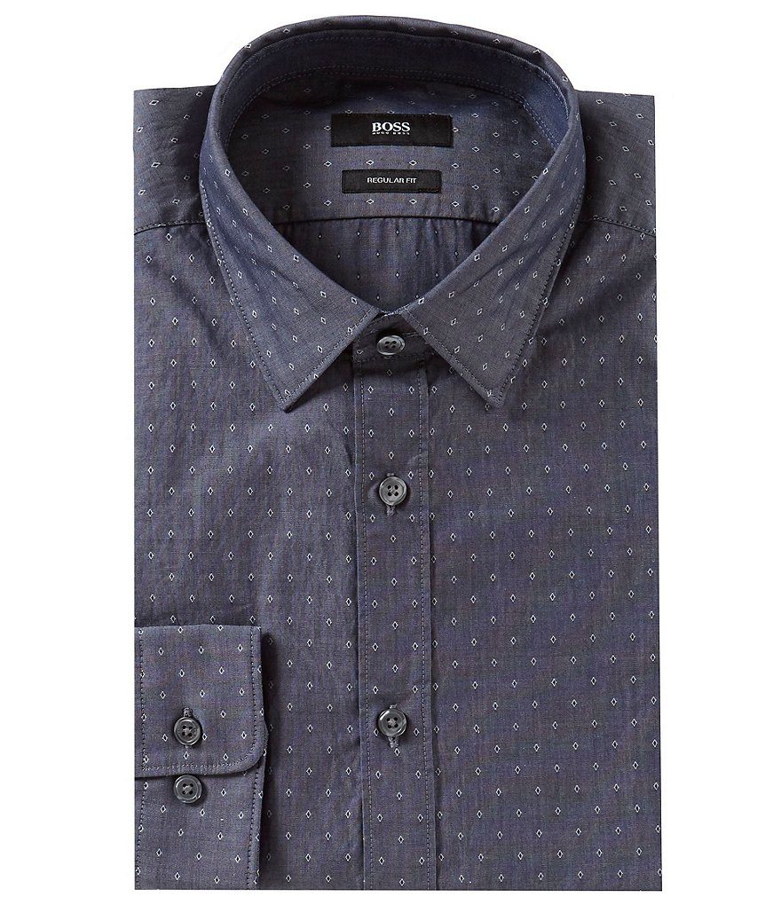 BOSS Lance Dobby Printed Long-Sleeve Woven Shirt