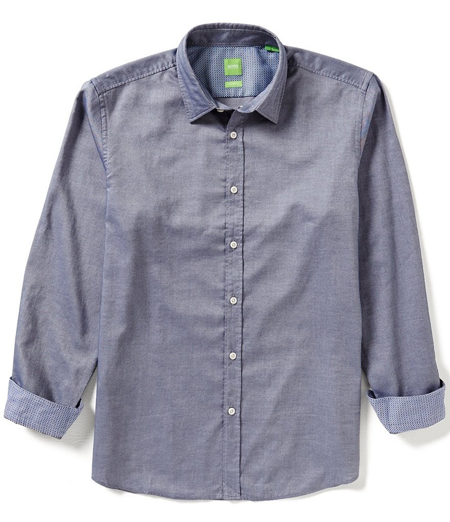 BOSS Green Lukas Printed Long-Sleeve Woven Shirt