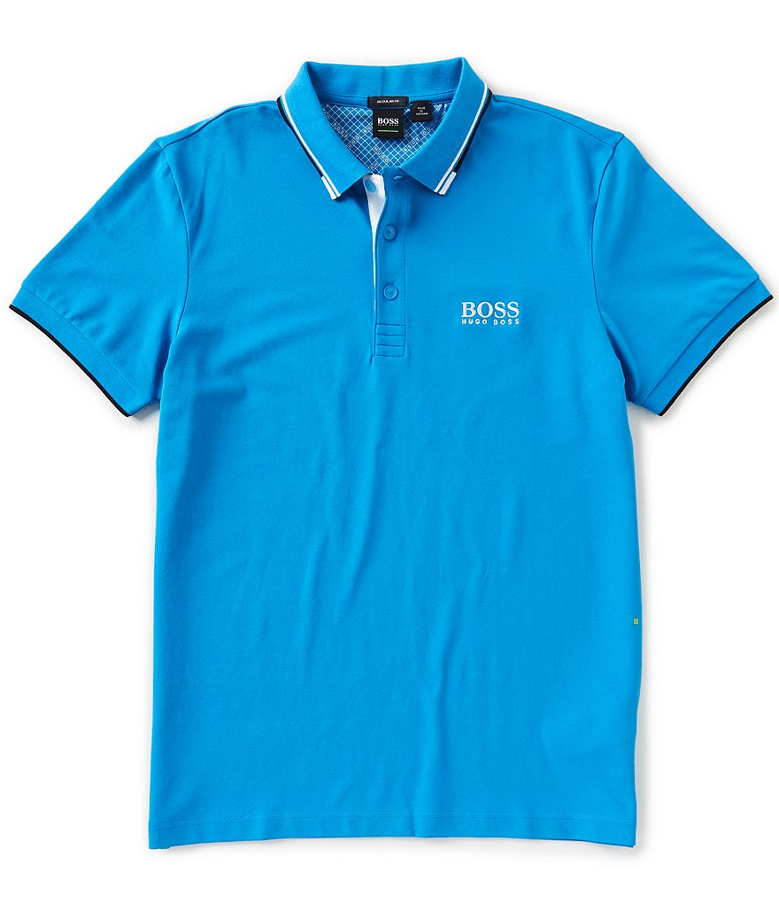 BOSS Paddy Stretch Pique Short-Sleeve Polo Shirt