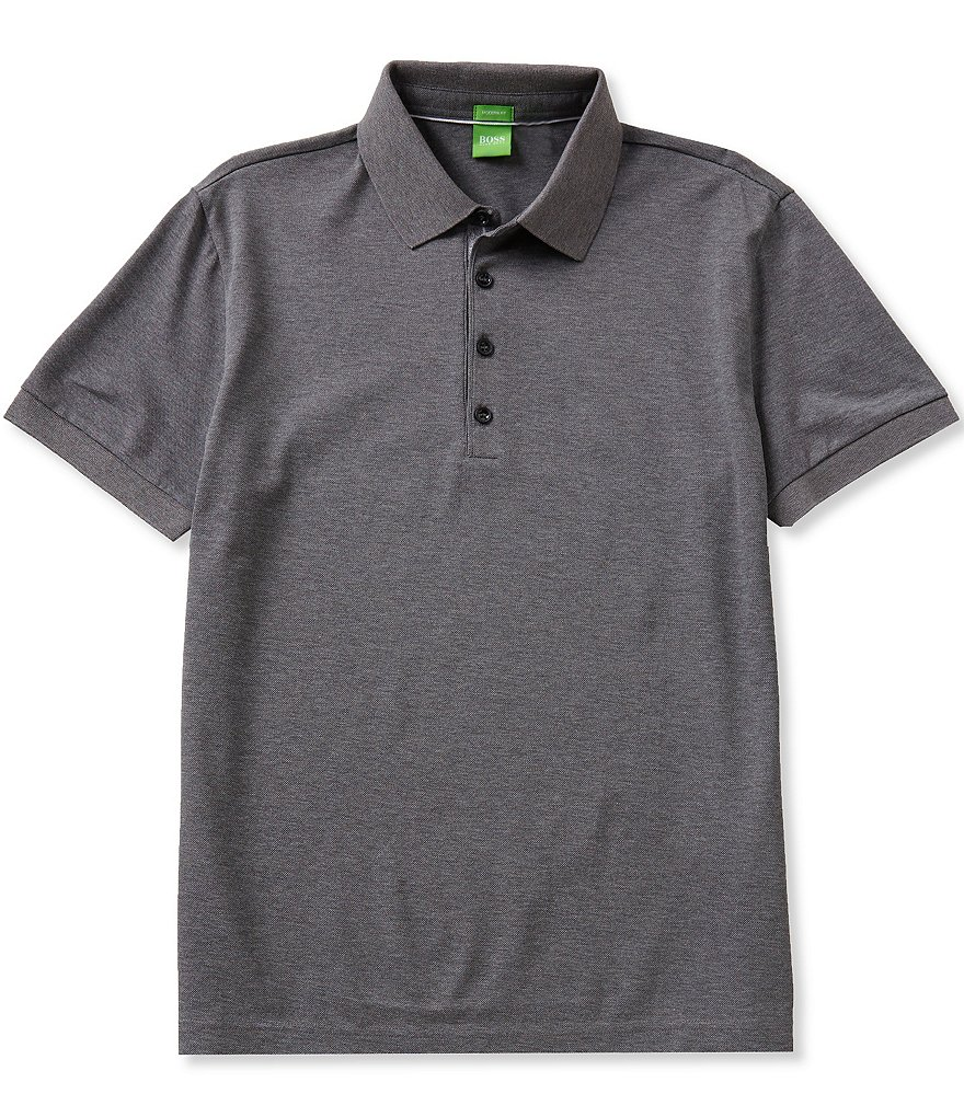 BOSS Green Short-Sleeve Genova Mercerized Pique Polo Shirt