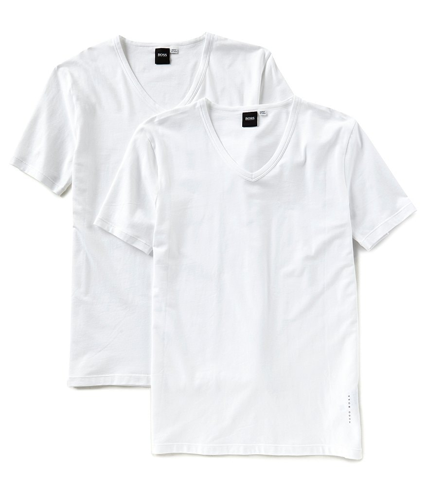 BOSS Hugo Boss Cotton Stretch V-Neck T-Shirt 2-Pack