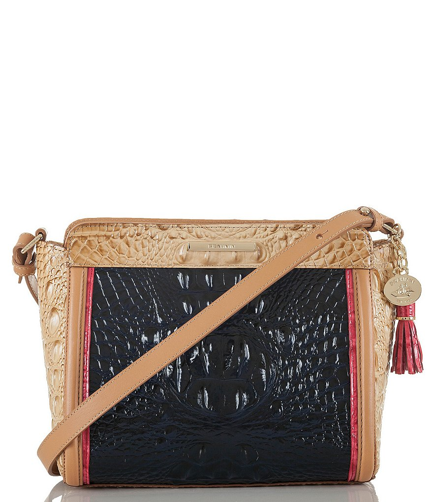 Brahmin Avondale Collection Carrie Cross-Body Colorblock Bag
