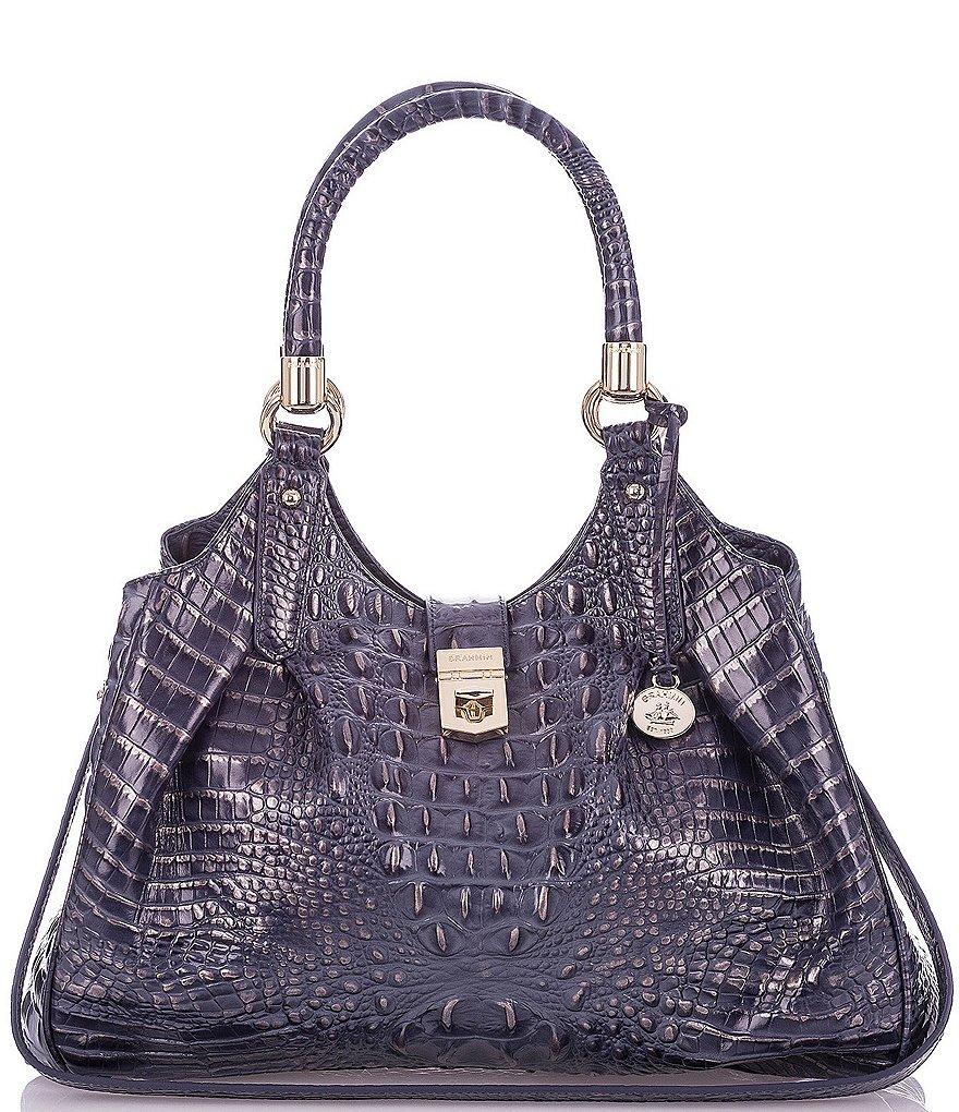Brahmin Melbourne Collection Elisa Crocodile-Embossed Hobo Bag ...