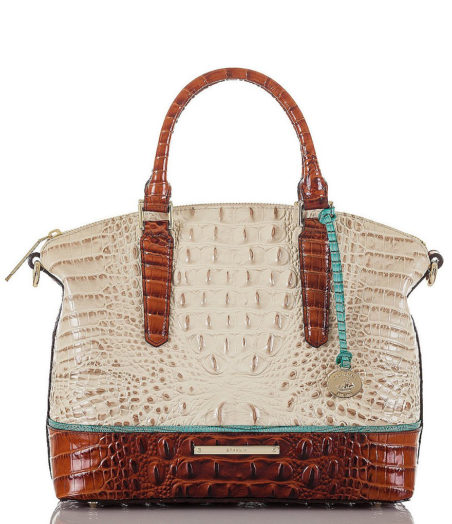 Brahmin Macaw Collection Duxbury Colorblock Satchel