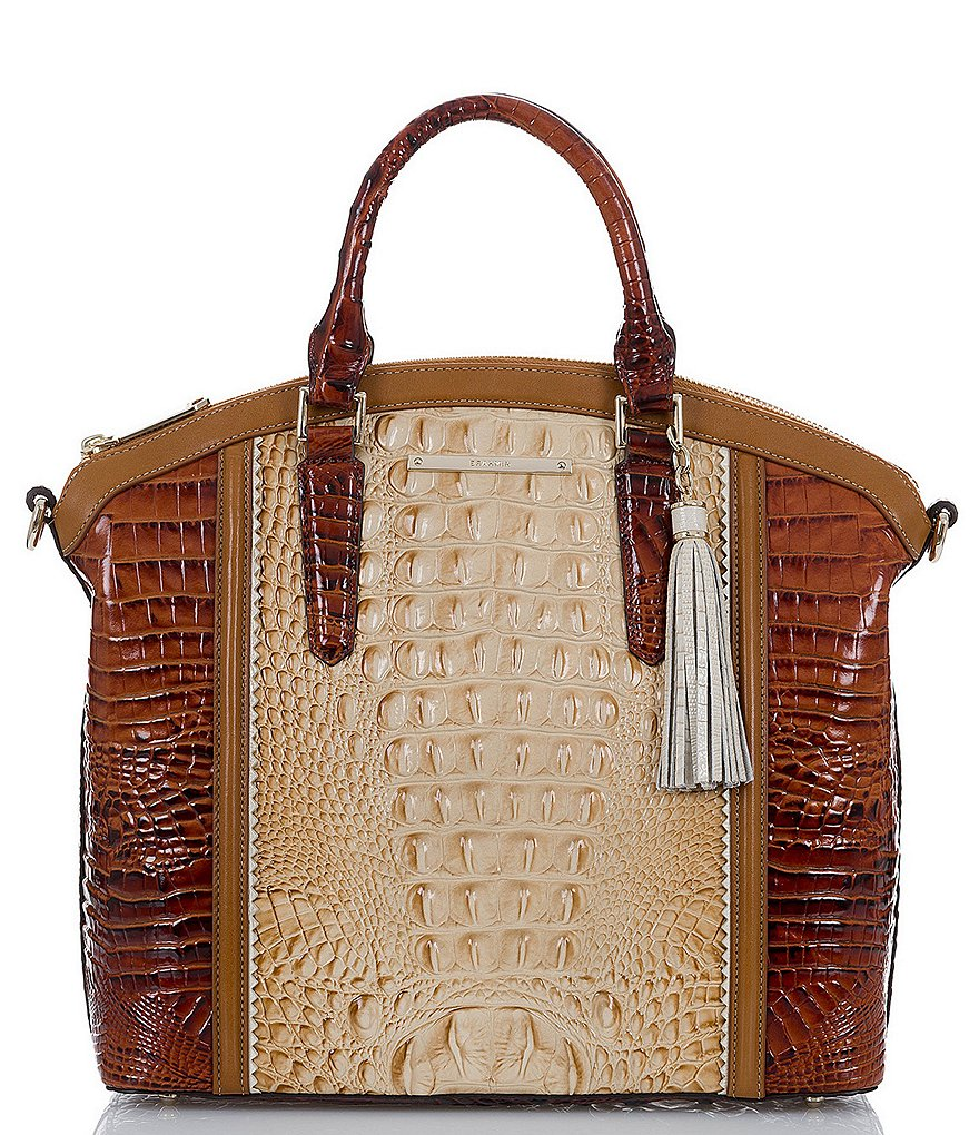 Brahmin Medina Collection Large Duxbury Colorblock Satchel
