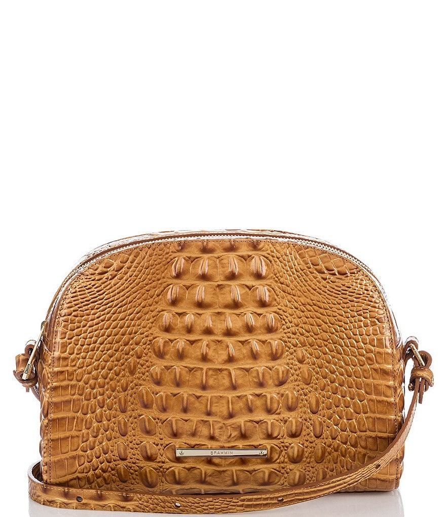 Brahmin Melbourne Collection Abby Crocodile-Embossed Cross-Body Bag
