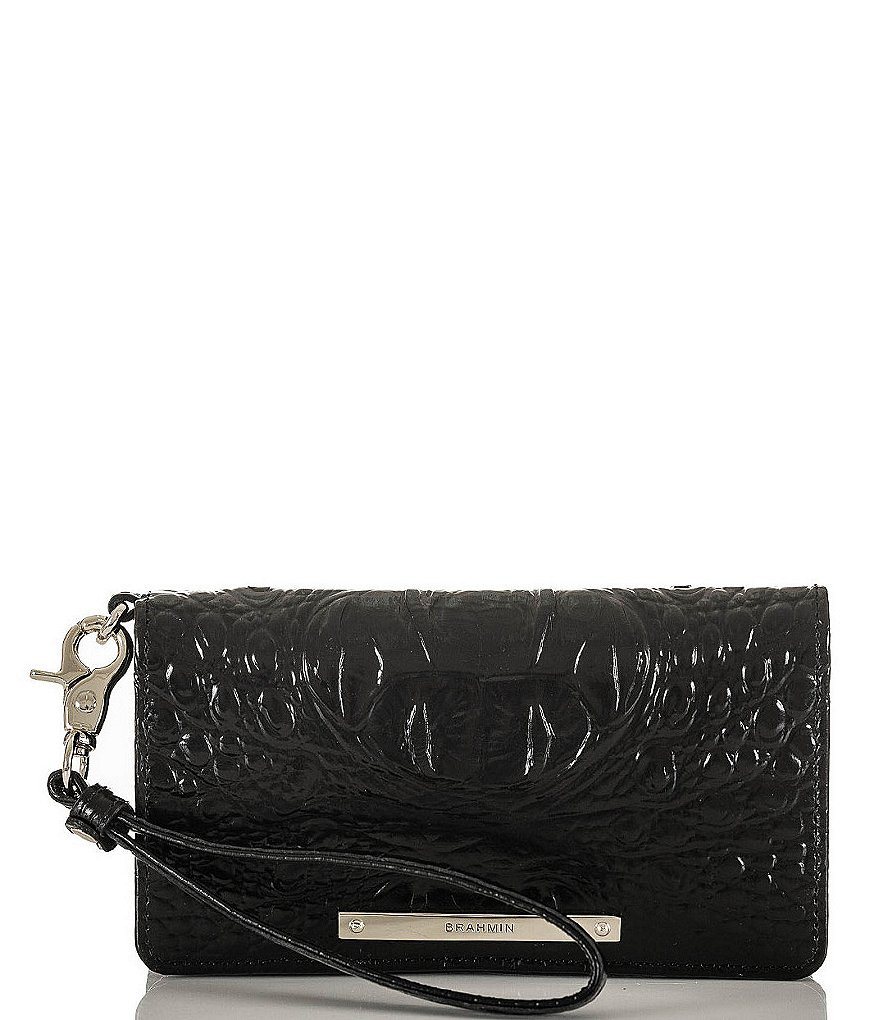 Brahmin Melbourne Collection Debra Crocodile-Embossed Wallet