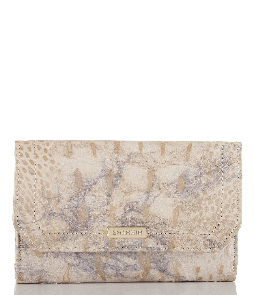 Brahmin Melbourne Collection Crocodile-Embossed Helena Wallet