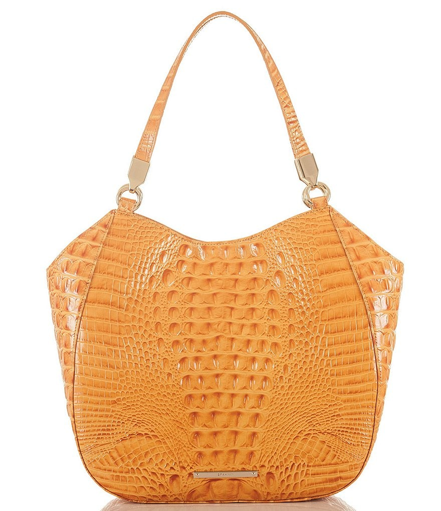 Brahmin Melbourne Collection Marianna Crocodile-Embossed Tote