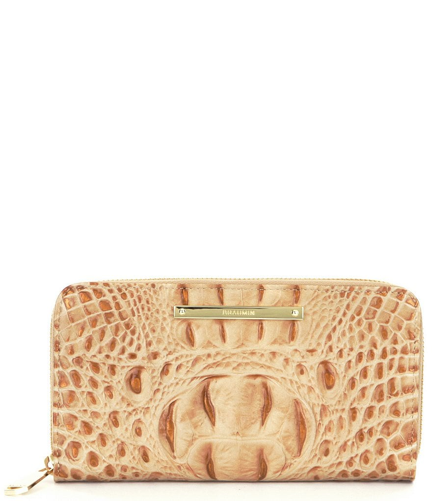 Brahmin Melbourne Collection Suri Croco Embossed Wallet
