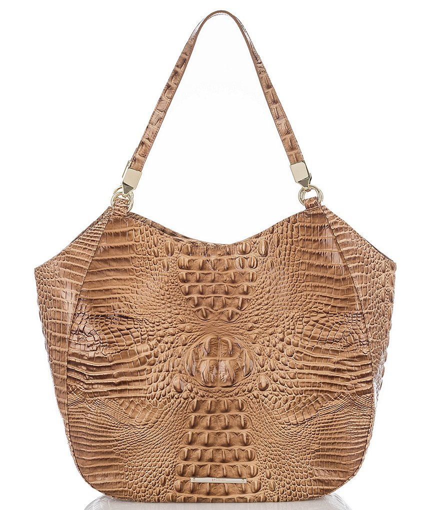 Brahmin Melbourne Collection Thelma Crocodile-Embossed Tote