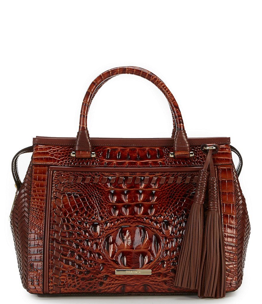 Brahmin Ross Collection Schooner Satchel