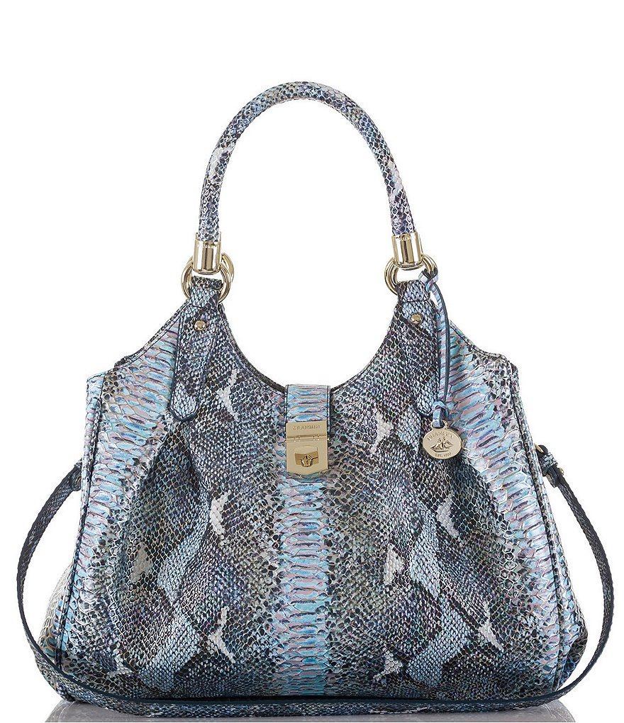 Brahmin Seville Collection Elisa Snake-Embossed Hobo Bag