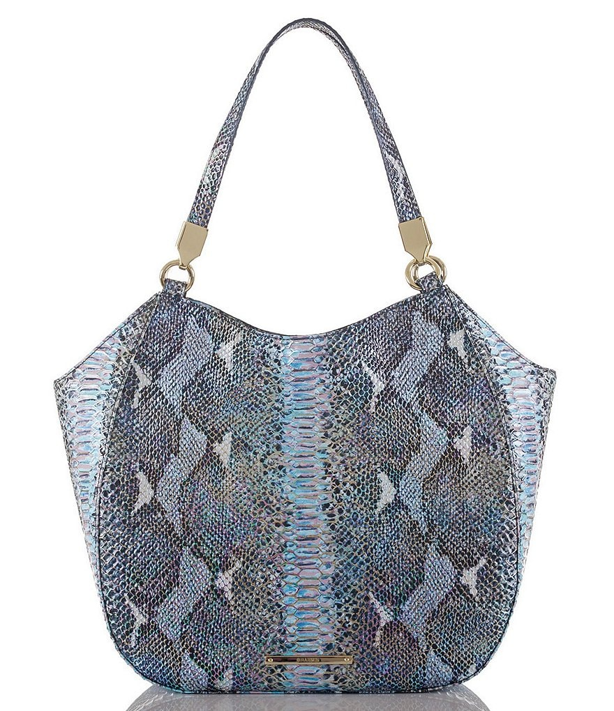 Brahmin Seville Collection Marianna Snake-Embossed Tote