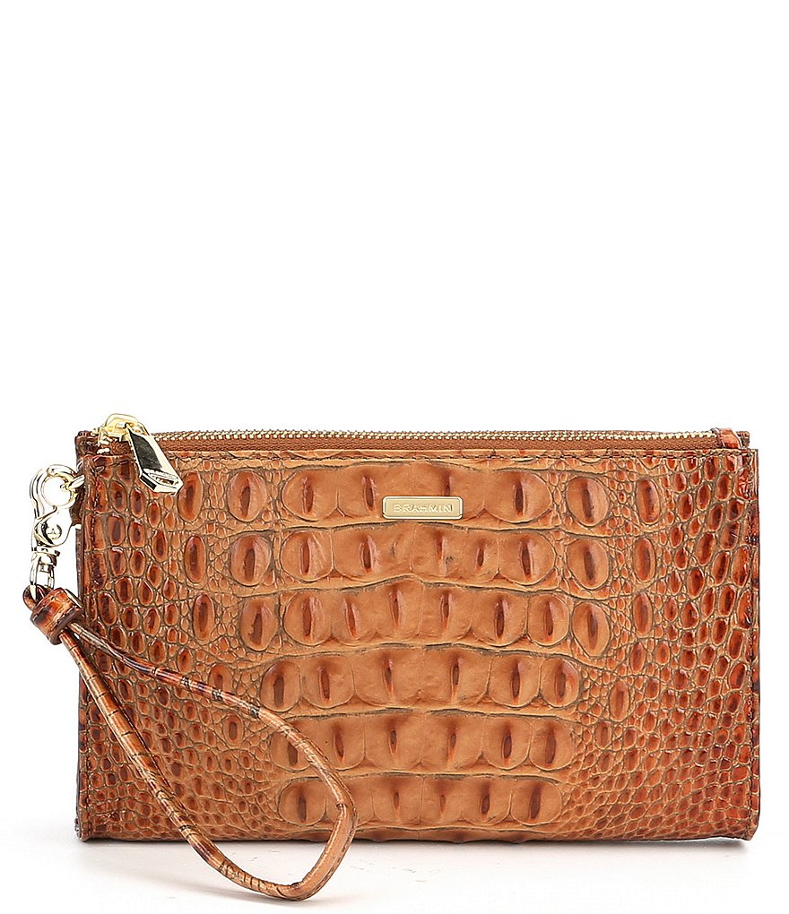 Brahmin Toasted Almond Collection Daisy Wristlet