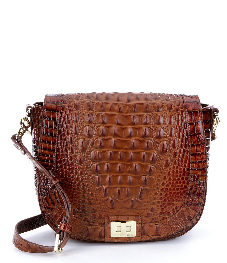 Brahmin Toasted Almond Collection Sonny Saddle Bag