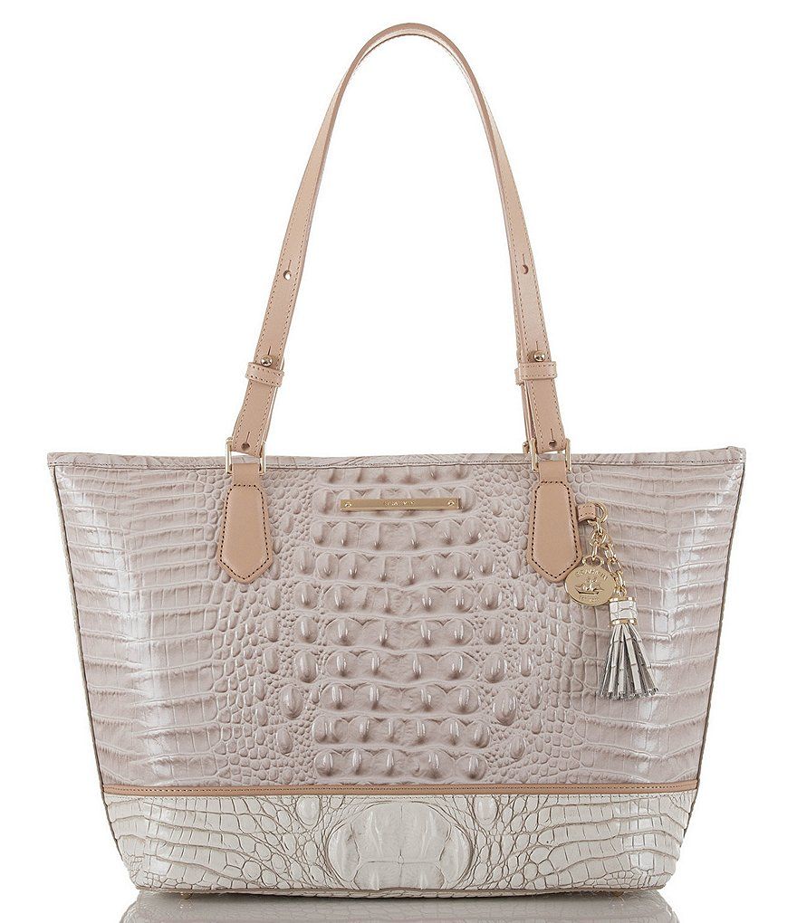 Brahmin Tri-Texture Collection Medium Asher Tasseled Colorblock Tote