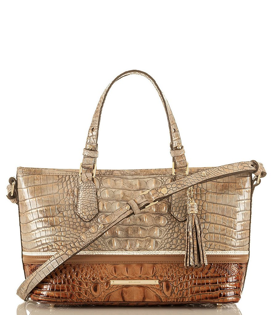 Brahmin Tri-Texture Collection Mini Asher Colorblock Tote
