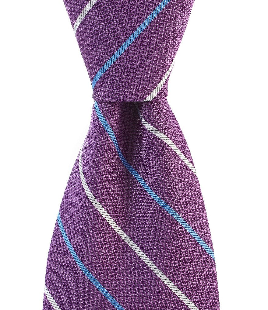 Brooks Brothers Bar Stripe Traditional Silk Tie
