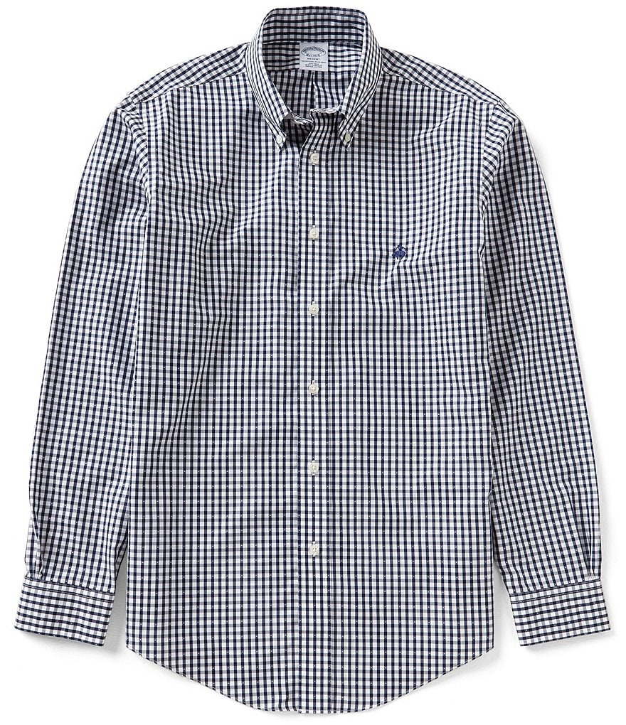 Brooks Brothers Dobby Check Long-Sleeve Woven Shirt