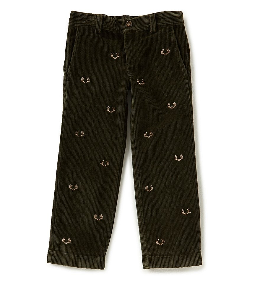 Brooks Brothers Little/Big Boys 4-20 Antler-Embroidered Pants