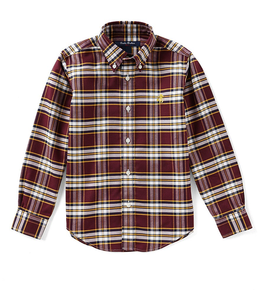 Brooks Brothers Little/Big Boys 4-20 Button-Down Plaid Shirt