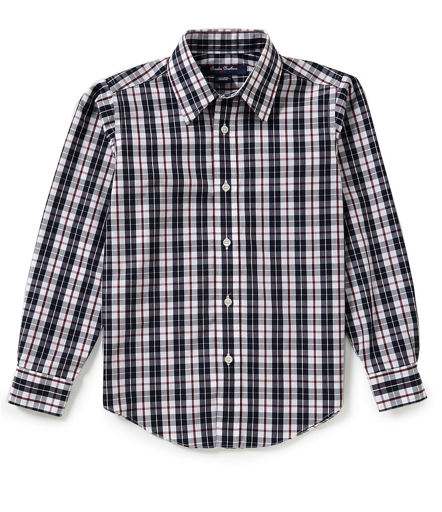 Brooks Brothers Little/Big Boys 4-20 Non-Iron Plaid Woven Shirt