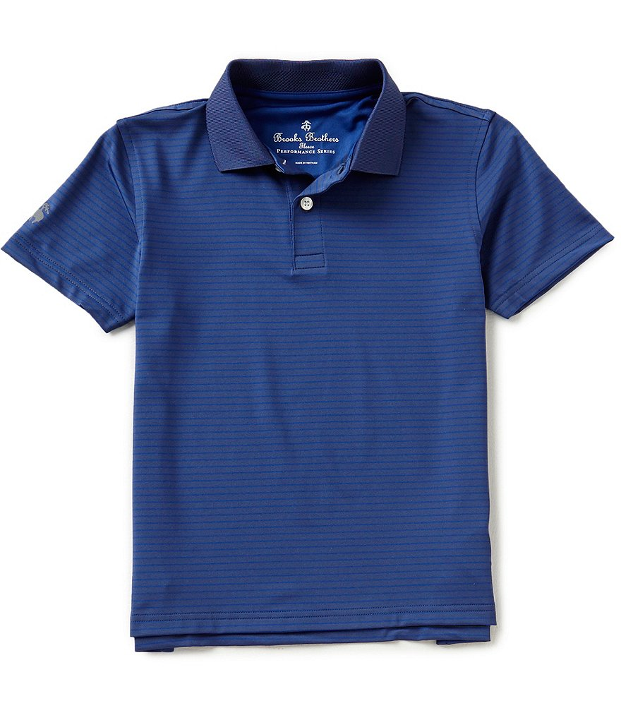 Brooks Brothers Little/Big Boys 4-20 Striped Performance Short-Sleeve Polo Shirt